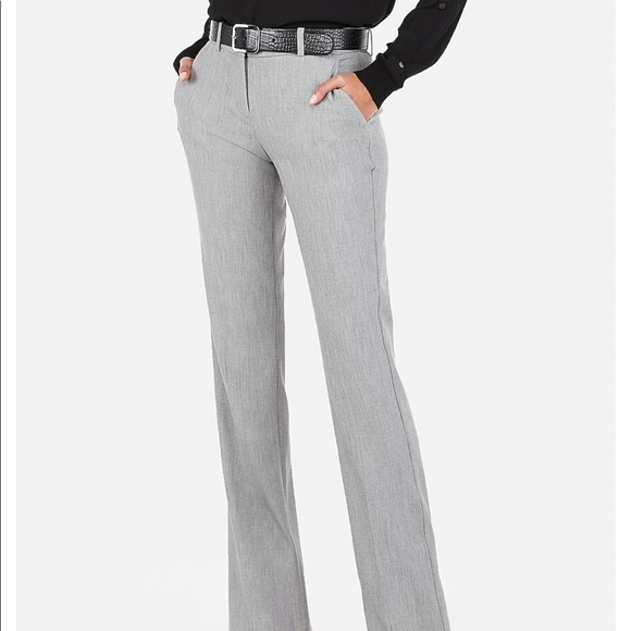 Express Pants - Express Columnist suit grey slacks